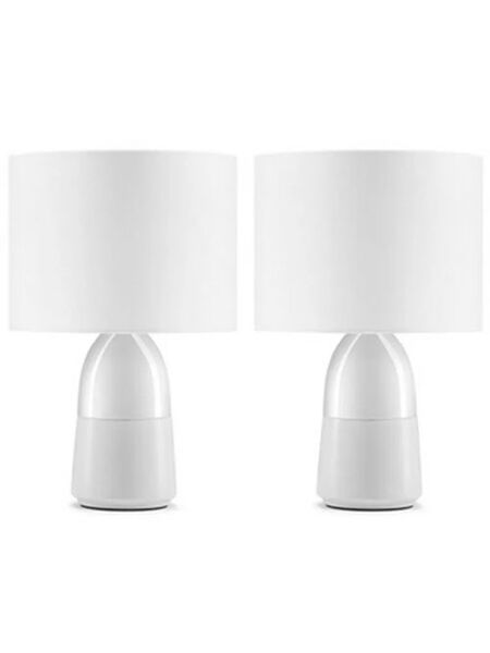Комплект прикроватных ламп Our Family Bedside Touch Table Lamp 2 in 1 White